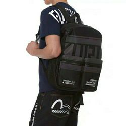 Authentic Evisu Summer High Quality Men's Casual Zipper Trend backpack High Street Knee Fashion Hip Hop Men's Straight Pants
