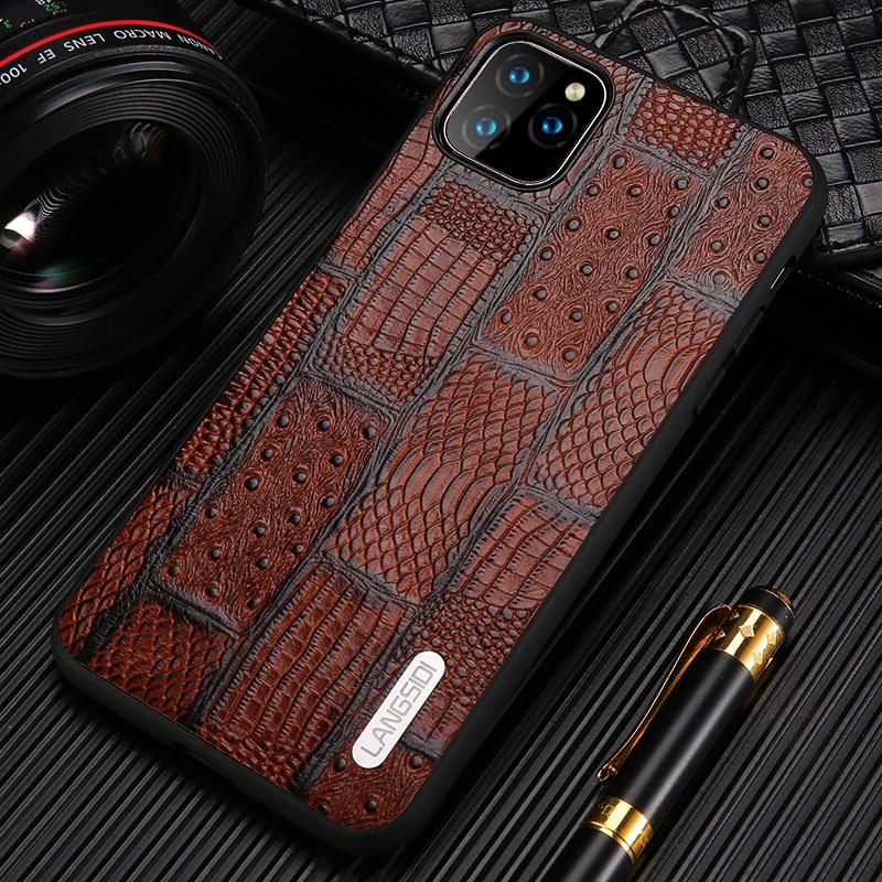 Genuine Leather Retro Splice Phone Cases For Apple iPhone 11 11 Pro Max X XS Max XR 7 8 6 6s 7 Plus 8 plus 5 5S se 11 Pro Cover