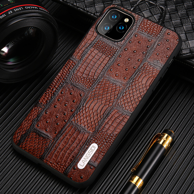 Genuine Leather Retro Splice Phone Cases For Apple iPhone 11 11 Pro Max X XS Max XR 7 8 6 6s 7 Plus 8 plus 5 5S se 11 Pro Cover image