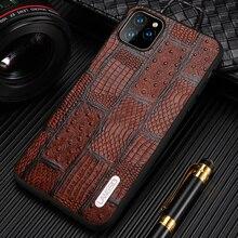 Genuine Leather Retro Splice Phone Cases For Apple