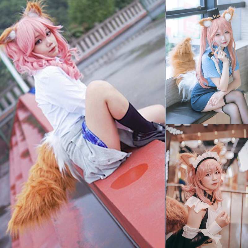 Anime Spice And Wolf Holo Fox Ears Kamisama Kiss Kamisama Hajimemashita Ears Fox Tail Cosplay Prop
