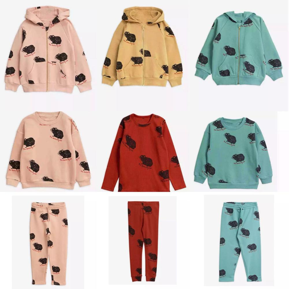 Baby Clothes Set  Mini Brand 2019 New Toddler Girl Clothes Kids Cartoon Hoodie Sweatshirt Tops Boys Jacket Pants Girls Outfits 1