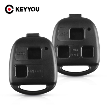 KEYYOU Remote Car Key Shell For Toyota Corolla Land Cruiser YARIS CAMRY RAV4 For Lexus RX300 ES300 2/3 Buttons Fob Key Case logo image