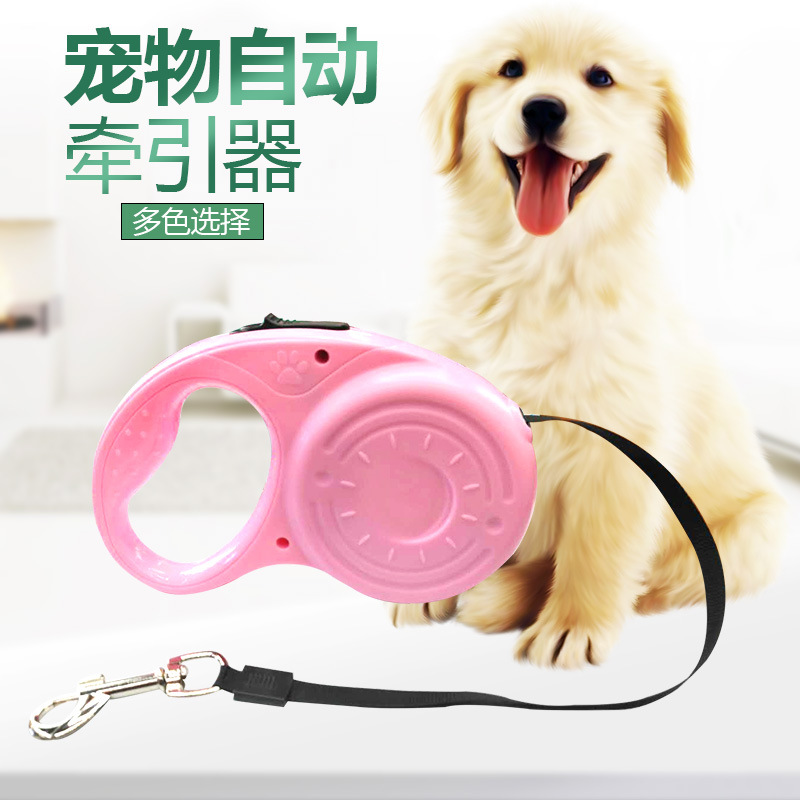 Pet Traction Rope Dog Automatic Tractor Candy-Colored 3 M 5 M Hand Holding Rope