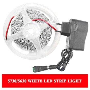 цена на White Light LED Strip SMD 5630 5730 Warm White Flexible LED Strip DC 12V Background decorate LED Tape Lights 60leds/M