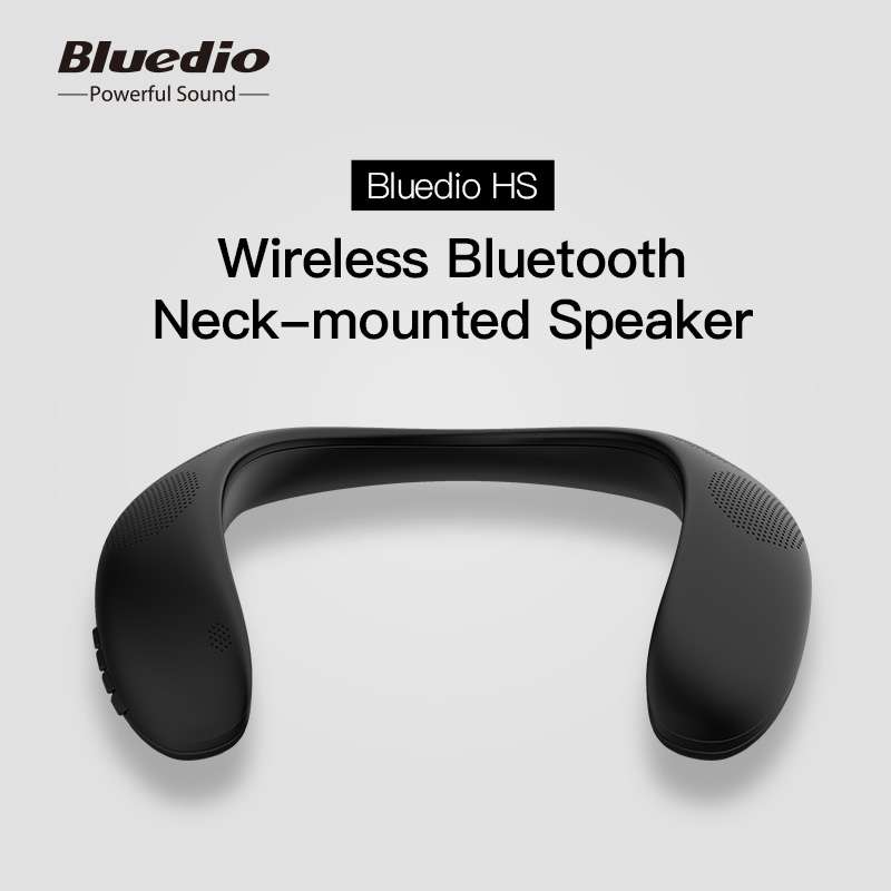 Bluedio HS bluetooth neck speaker column wireless speaker bluetooth 5.0 with bass FM radio SD card slot with microphone for game      - AliExpress