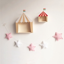 Звезда сформированную украшение в детскую комнату хлопок домашний настенный простое украшение для детской комнаты, подвесное украшение для Подставки для фотографий