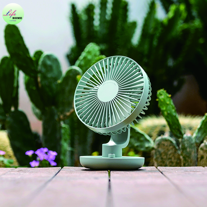 Mini Air Conditioner Fan 120 Degree Rotation Strong Wind Low Noise High Wind Dual Battery USB Mini Rechargeable Fan Shaking Head