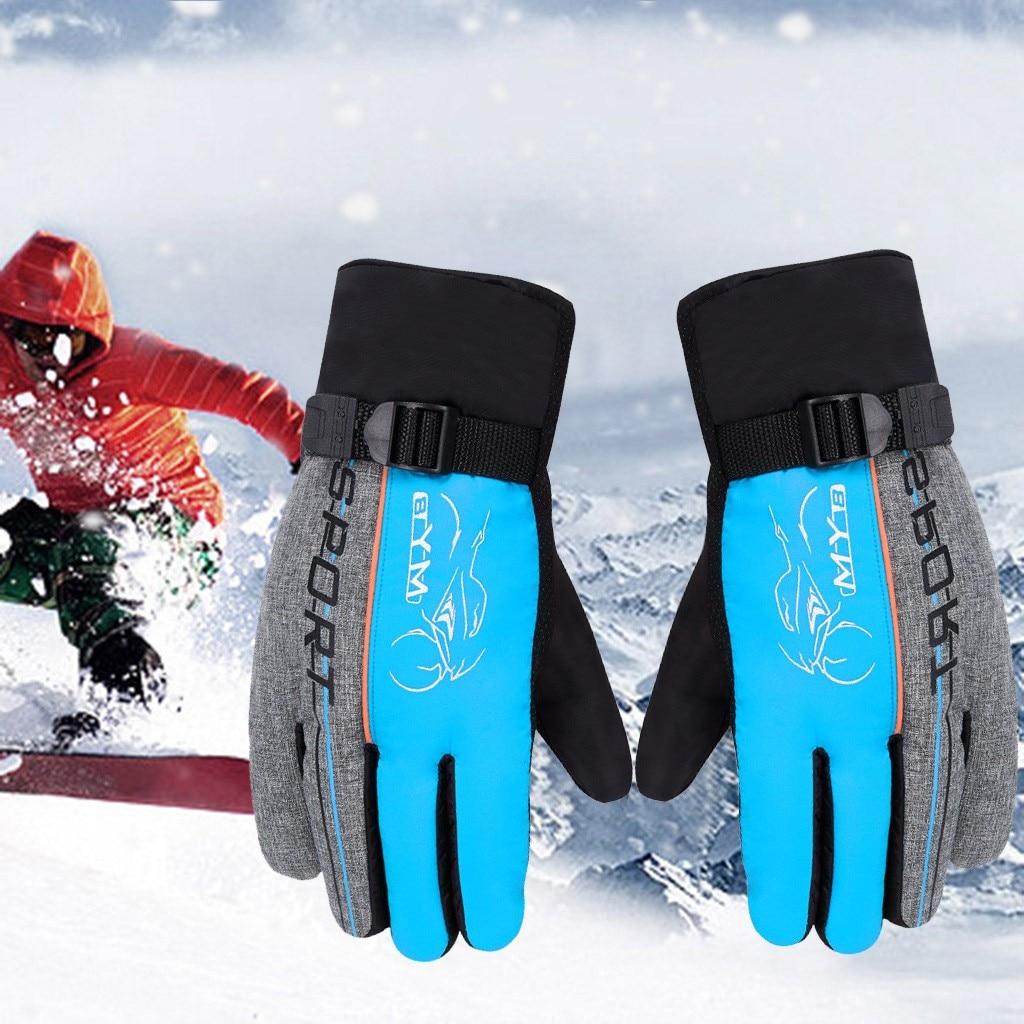 Kids Waterproof Anti-slip Outdoor Sports Warm Thermal Ski Snow Gloves Winter New