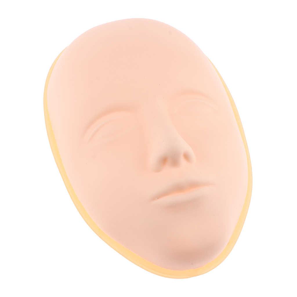 Pro การฝึกอบรม Manikin Cosmetology Mannequin FLAT ตุ๊กตาหัวฝึก Make Up ขนตาคิ้ว TATTOO