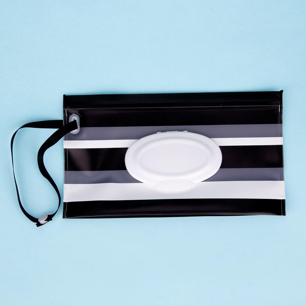 Quaslover Экологичная коробка для детских салфеток, коробка для влажных салфеток, чистящие салфетки, сумка для переноски, чехол-раскладушка с ремнем - Цвет: N