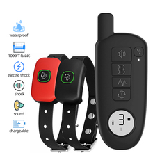Dog-Training-Collar Electric Shock Vibration Dogs Sound Waterproof Rechargeable for Small