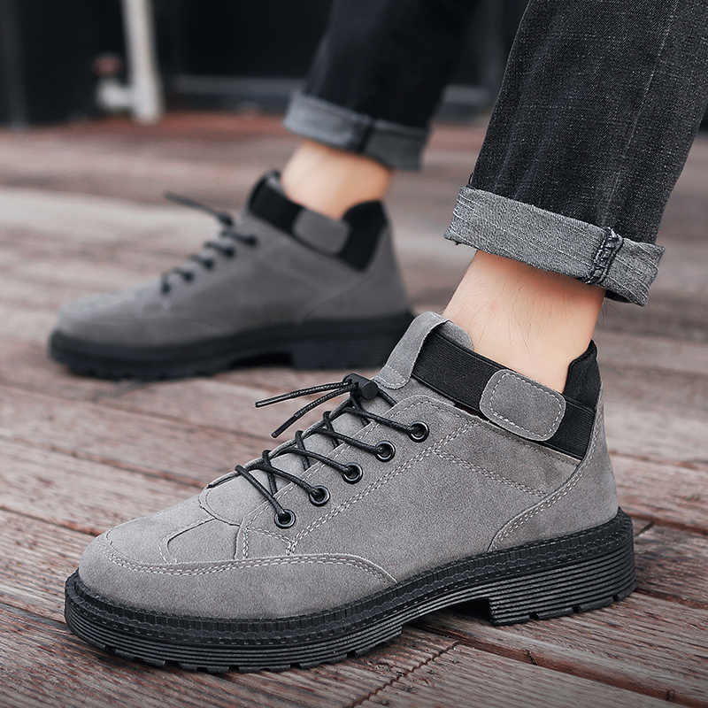 Heflashor Degli Uomini di Inverno Stivali Caldi Stivali di Cuoio Dell'unità di Elaborazione di Sesso Maschile Impermeabile Scarpe Chaussure Casual Scarpe per Gli Stivali da Uomo Calzature Uomo Scarpe da Ginnastica