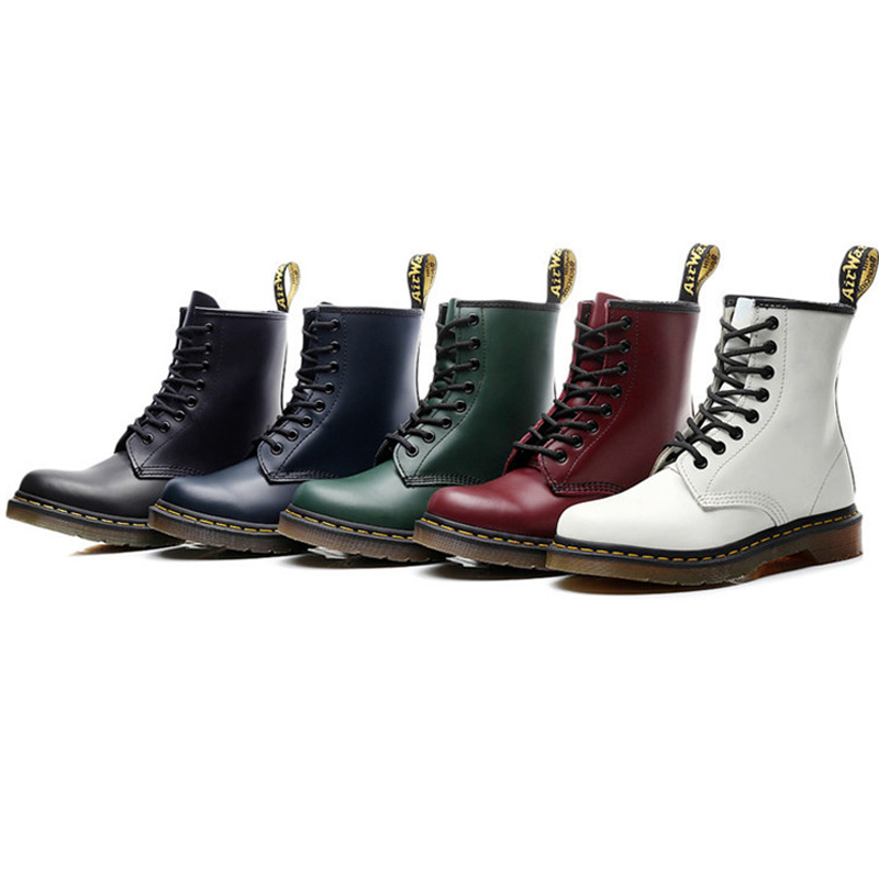 High Quality British Men Boots Genuine Leather Motorcycle Boots Non-slip Wear-resistant Outdoor Work Boots Women Martin Boots