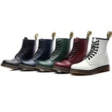 купить High Quality British Men Boots Genuine Leather Motorcycle boots Non-slip Wear-resistant Outdoor Work boots Women Martin boots дешево