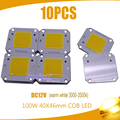 100W 40x46mm 100LM COB LEVOU Chip branco morno 3000-3500 k/W LED DC12V 10PCS 7A Chip de Fonte de Luz de Inundação Frete grátis