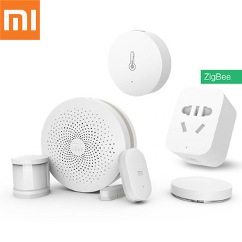 Original Xiaomi Smart Home Kit Gateway Version 2 Door Window Sensor Human Body Wireless Switch Humidity Zigbee Socket MI APP
