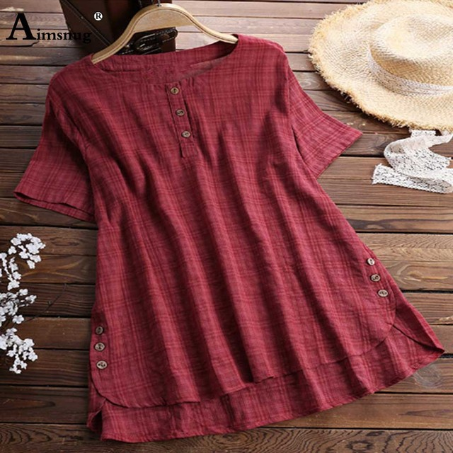 2020 Plus size 4xl 5xl Women Tops Patchwork Fake Buttons Solid Casual Blouses Irregular Female Summer Loose Blusas Shirts 2