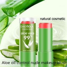 4 Style Aloe Vera 99% Blush Stick Lasting Waterproof Oil Control Natural Cosmetic Facial Beauty