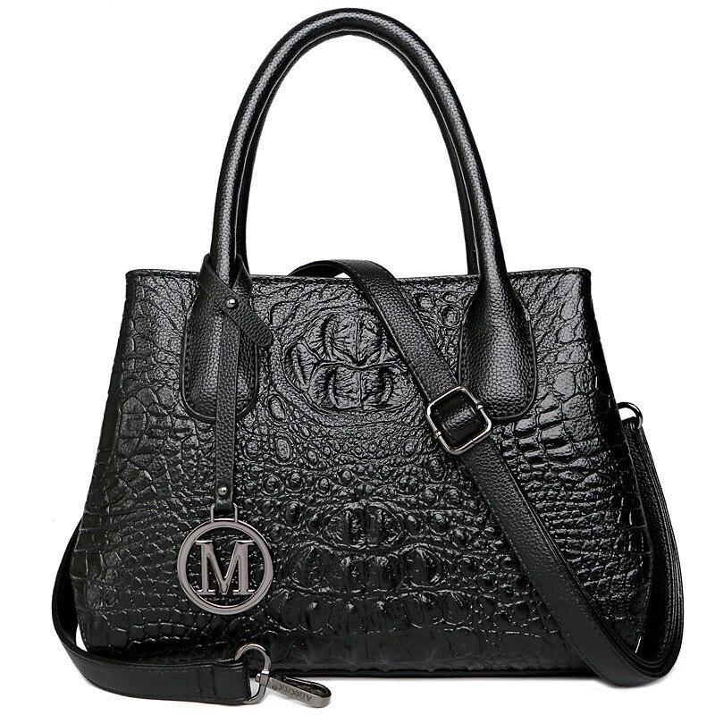 Sacs à bandoulière pour femmes motif Crocodile sacs à main de luxe de marque célèbre sacs en cuir véritable pour femmes Totes Designer