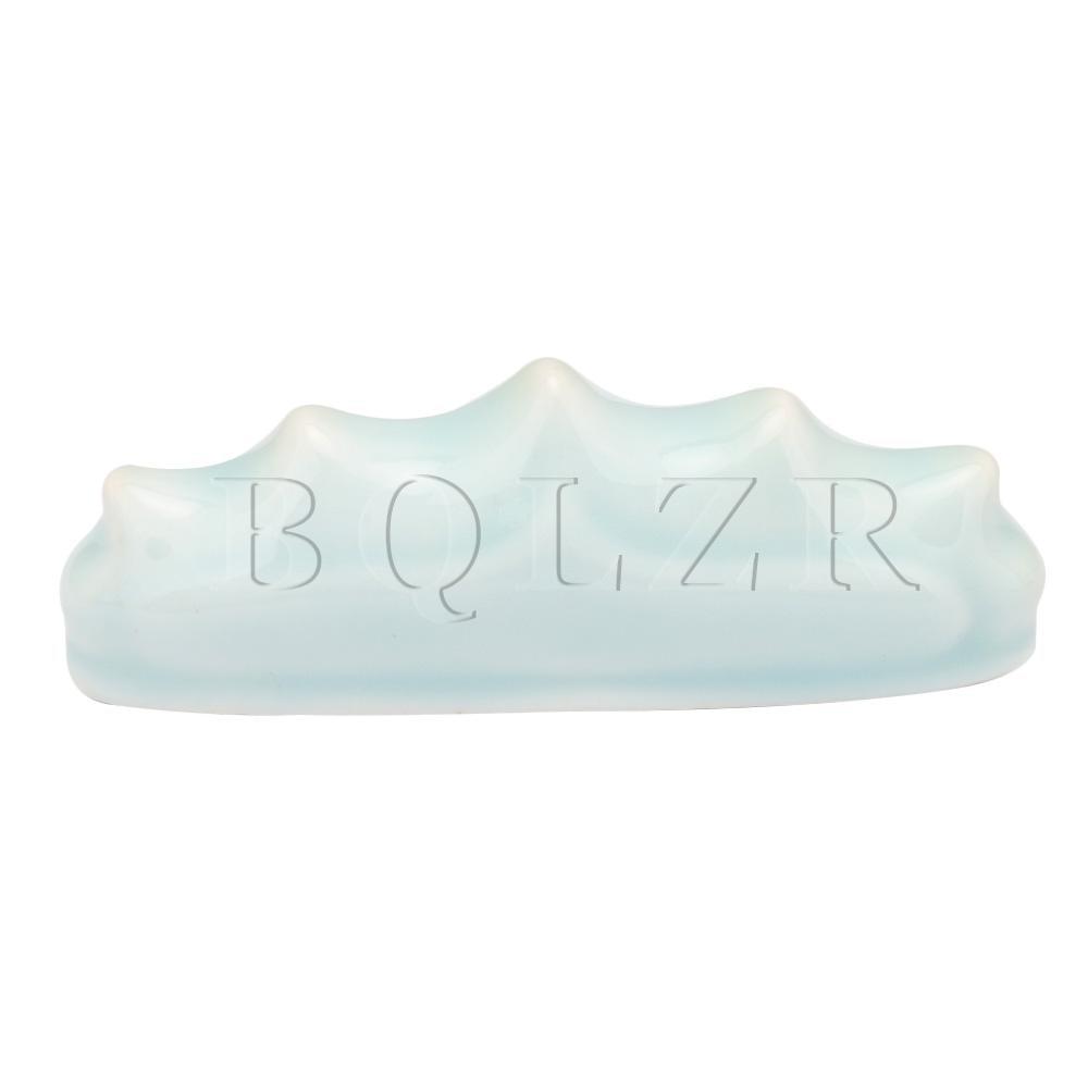 BQLZR Light Blue Ceramic Pen Rest Holder Stand Calligraphy Brush Pen Rack