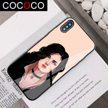 Yennefer witcher Luxury Cases for iphone 11 pro 7 8 plus Protection Glass Cover Case for iphone 5se 6 plus X XR XS max New 2020(China)