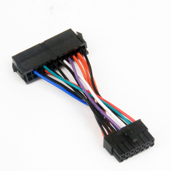 Ordinary PSU ATX 24Pin Female To for Lenovo Motherboard 14Pin Male Adapter Power Supply Cable 10cm 18AWG atx 24pin quad 4 psu power supply starter motherboard adapter cable 18awg wire for btc miner machine rig 30cm