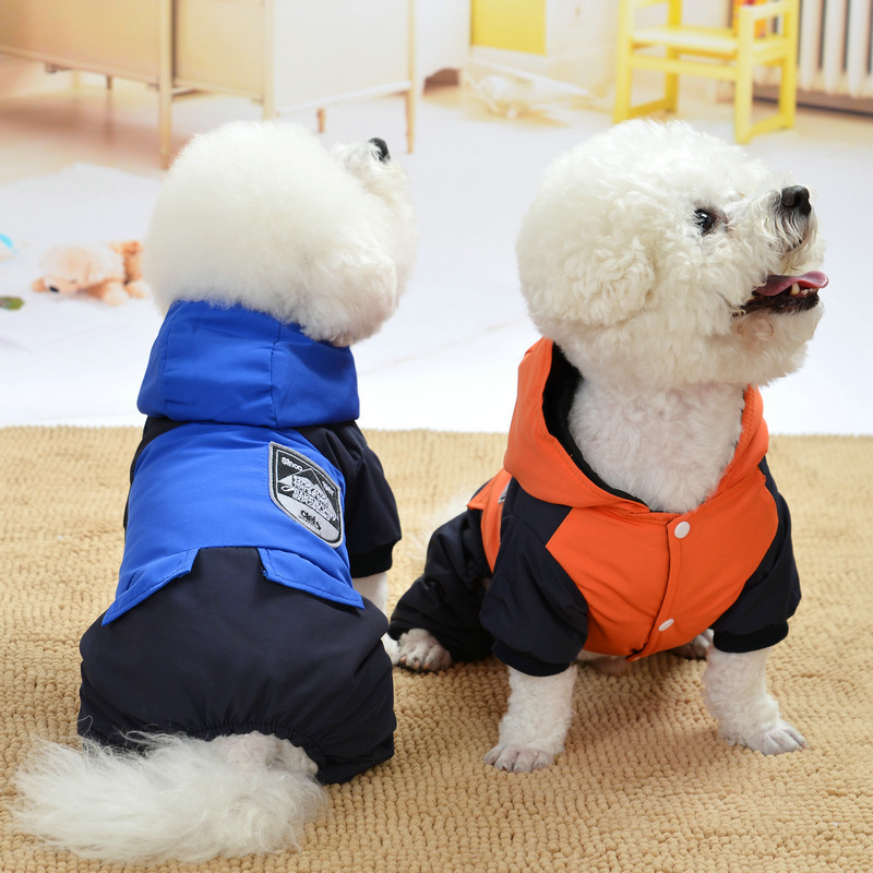 Winter Jumpsuit For Dog Clothes Yorkshire Terrier Windbreaker For Dog Parka Trajecito Perro Invierno Clothes Korean Warm Jacket
