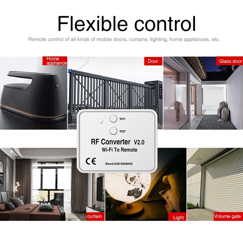 Image 4 - Universal WIFI remote control converter 330 868MHz Android IOS RF WIFI remote control Wi Fi to Remote RF Converter 240~930MHzDoor Remote Control   -