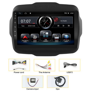 Image 5 - אנדרואיד 10 8.1 2 דין רכב רדיו עבור Jeep Renegade 2016 2017 2018 2019 2020 AHD מצלמת 9 GPS ניווט AM רכב מולטימדיה נגן
