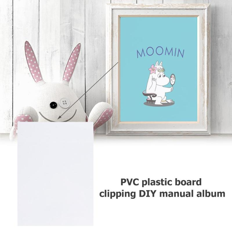 50pcs DIY Scrapbook Sheet Handmade Shake Card PVC Sheet For Photo Album Scrapbooking Decor in Stickers from Home Garden