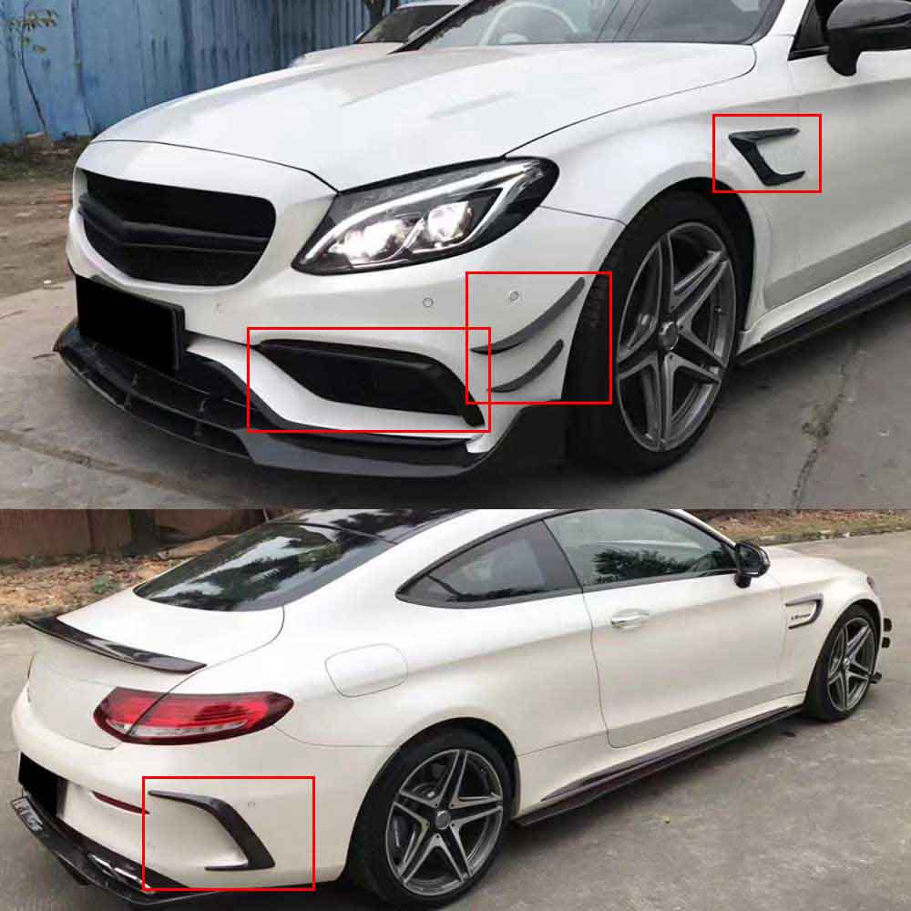 carbon Fiber Rear Side Mirror body <font><b>Stickers</b></font> Covers Trim decorative For Mercedes Benz C Class W205 Coupe C180 <font><b>C200</b></font> C63 AMG 15-17 image