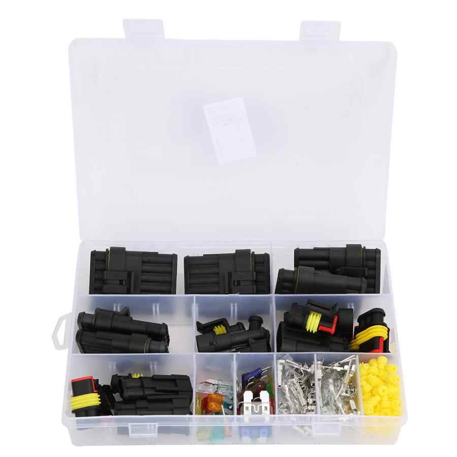 240pcs Electrical Terminal Wire Connector Plug Mini Blade Fuse 1//2//3//4//5//6 Pin