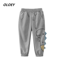 Boys Autumn Pants 2019 Fashion New Embroidered Childrens Trousers Clothing Baby Base Thin Cotton And Linen