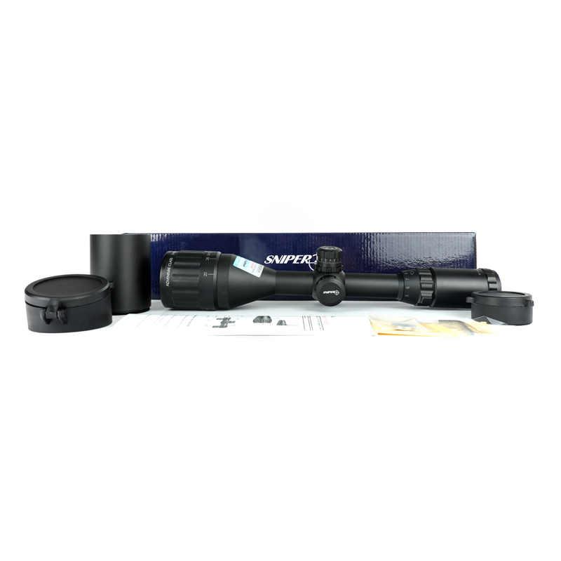 Mira de Rifle con iluminación RGB, tamaño completo, retícula grabada, Rifle de caza AOL LT 3-9X50