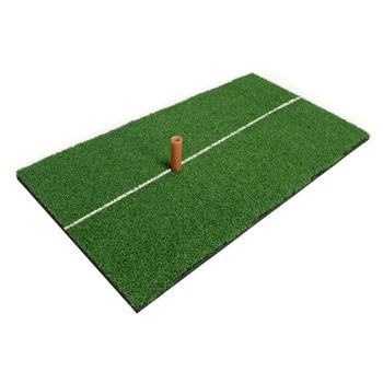 цена на Indoor Golf Mat Training Hitting Pad Practice Rubber Grass Mat Grassroots Green Golf Training Tools Backyard 30 x 60cm