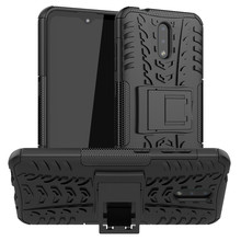 цена на Armor Case For Nokia 2.3 Cover TPU & PC Holder Stand Housings Protective Hard Phone Bumper For Nokia 2.3 Case Funda Etui 6.2''