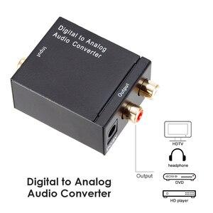 Image 4 - محول صوت رقمي إلى تناظري DAC TOSLINK ، SPDIF بصري إلى L/R RCA ، مقبس صوت 3.5 مللي متر لـ HD DVD Amp HDTV Home