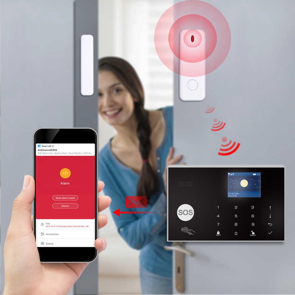 Tuya 433MHz WiFi 3G & 4G Hause Einbrecher & Sicherheit Alarm System APP Fernbedienung Wireless Alarm host Kit Mit IP Kamera Baby Monitor