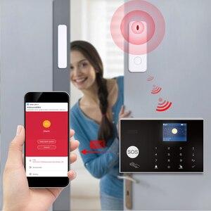 Image 4 - Tuya 433MHz Wifi 3G 4G Home Burglar Security Alarm System,Apps Control Wireless Alarm Host Kit With Ptz IP Camera Baby Monitor