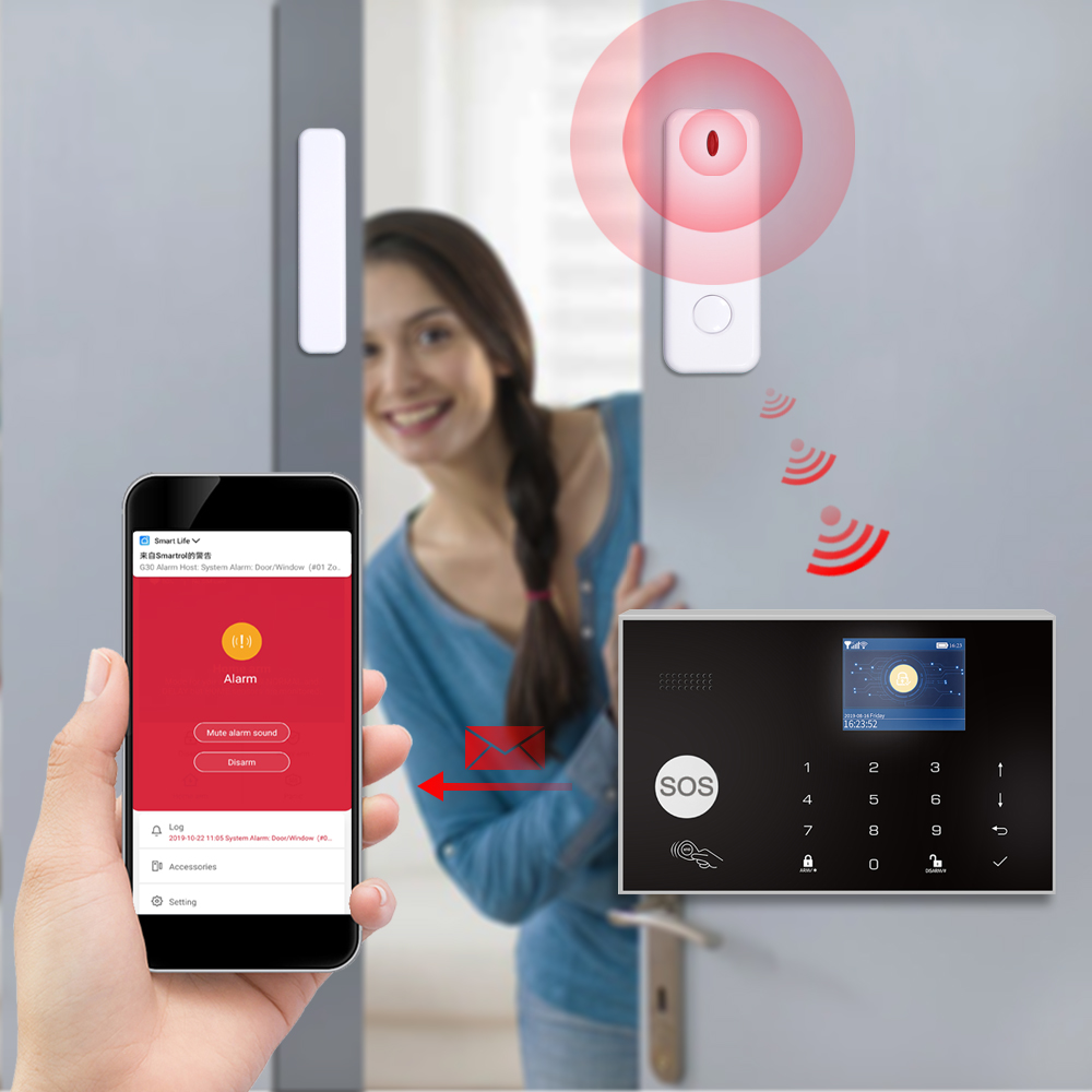 casa assaltante sistema de alarme seguranca 03