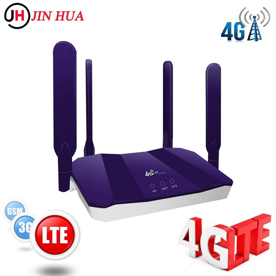 Unlocked 300Mbps Wireless 3G 4G Router Mobile Wifi Hotspot Broadband Dongle CPE Router Modem 4g Wifi Sim Card RJ45 Wan/Lan-Port