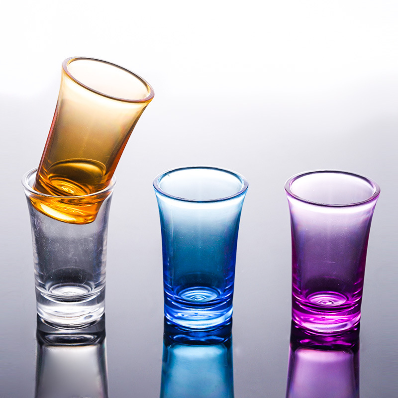 10PCS Shot Glass Cup Acrylic Party KTV Wedding Game Cup For Whiskey Wine Vodka Bar Club beer wine glass 35ml Gift Bottle