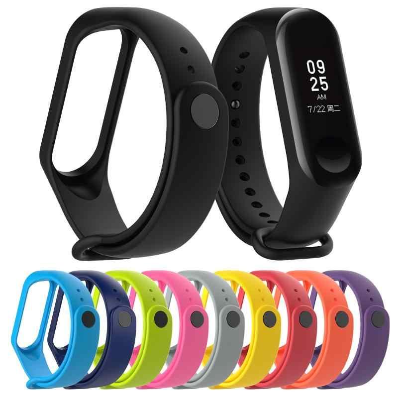 1 pc multi-cor pulseira pulseira de pulso de substituição para xiaomi banda 4 pulseira de silicone para xiaomi mi band4 pulseira inteligente