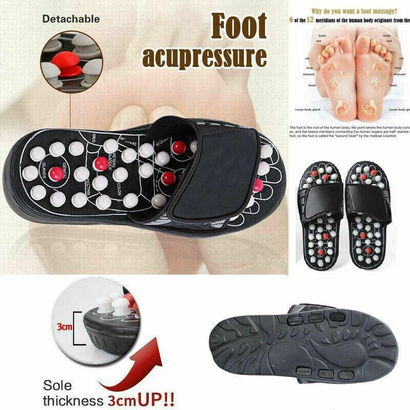 pés chinês terapia de acupressão médica rotativa pé massageador sapatos unisex