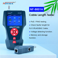 NF 8601A Multi functional Network Cable Tester LCD Cable length Tester Breakpoint Tester English version NF_8601A