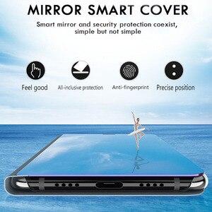 Зеркальный умный чехол для huawei honor 20 pro 10 lite светильник 9x на honer 10i 8x8 s 8c 8a p Smart 2019 psmart Z чехол с откидной крышкой