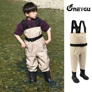 Image 4 - NEYGU kids Waterproof wading pants with Winter Boots, Breathable Kids huting Waders for Fishing and Water Playing