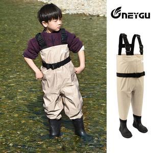 Image 4 - NEYGU pantalons de wading imperméables pour enfants avec bottes dhiver, wader respirant pour enfants pour la pêche et jeux deau