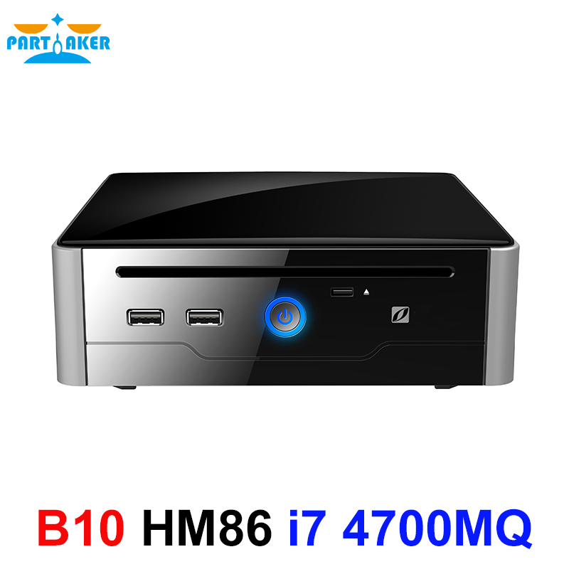 Partaker B10 Mini PC Desktop Computer Win10 Linux Gaming Intel Core I7 4700MQ Nuc HDMI DVI Dual Display